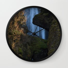 Sun and water are falling Wall Clock
