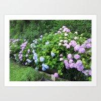 kobe Art Prints featuring Flowers in Kobe by Michelle Brand