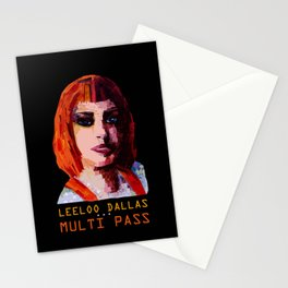 Multi Pass in black Stationery Cards