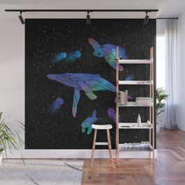 Space Sea Creatures Wall Mural