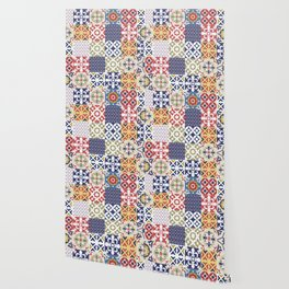 Portuguese pattern color Wallpaper