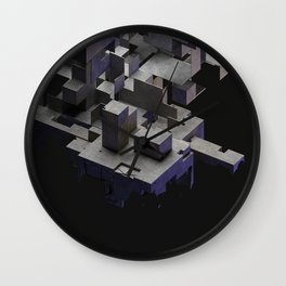 Decimated Cubes 02 Wall Clock