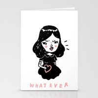 whatever Stationery Cards featuring Whatever by Mel Stringer
