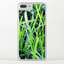 Green Shoots Clear iPhone Case