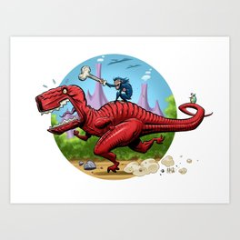 Devil Dinosaur and Moon Boy Art Print