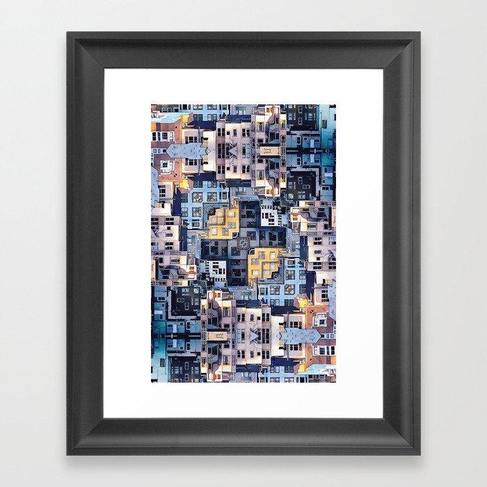 Community of Cubicles Framed Art Print