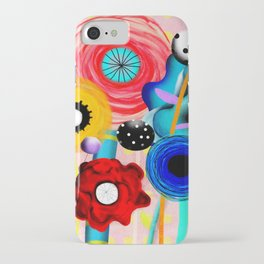 Yellow Polka Dots Floral Bouquet iPhone Case