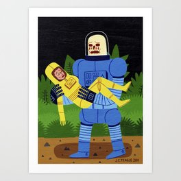 Loss in Space Art Print