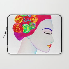 The Girl with the Flowers in her Hair Laptop Sleeve