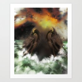 Ion Bombardment [Digital Figure Illustration]  Art Print