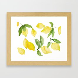 lemon love Framed Art Print
