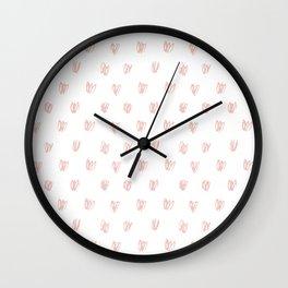 Be My Valentine - Heart Pattern Wall Clock