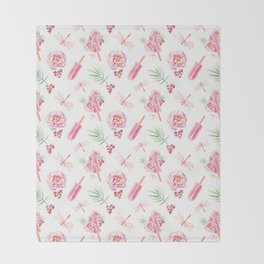 Hawaiian Dream Pop Pattern Throw Blanket