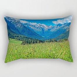 Bergwiese mit Talschluss Rectangular Pillow