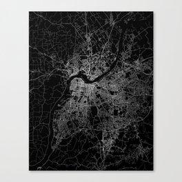 Louisville map Canvas Print