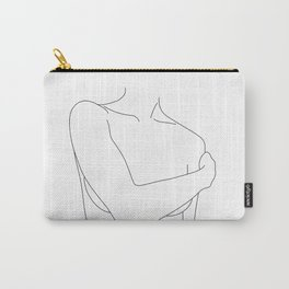 Nude figure line drawing - Judy Carry-All Pouch