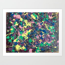 Confluence of Colors Art Print
