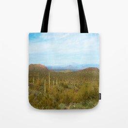 Arizona Landscape with Saguaro cactus Tote Bag