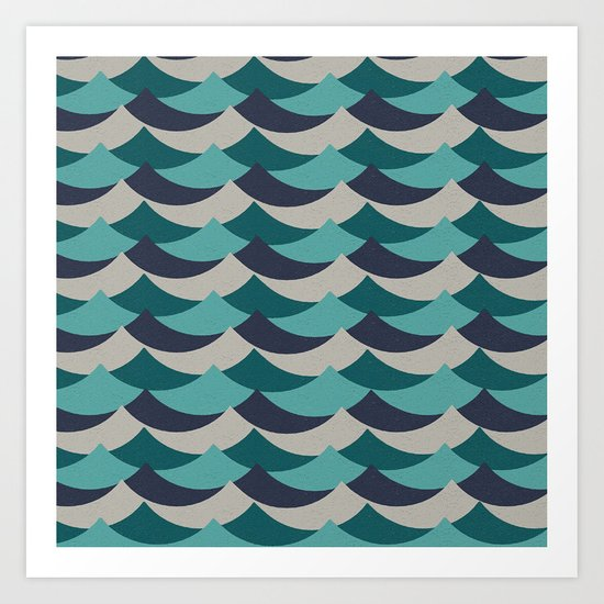 Waves Of Fun Art Print