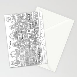 Amsterdam Line Art Stationery Cards