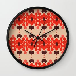 Red pattern rouge 6 Wall Clock