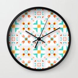 Moroccan pattern no 5 Wall Clock