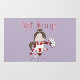 Fight Like a Girl - Mai Shiranui Rug