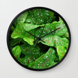 caladium Wall Clock