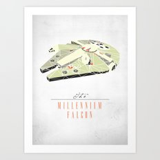 The Millennium Falcon Art Print