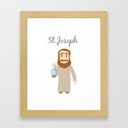 Saint Joseph Day Framed Art Print