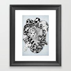 The heart of things Framed Art Print