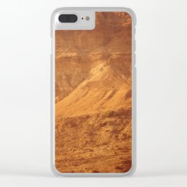 Mountain Texture Clear iPhone Case