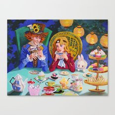 Tea with Hatter Canvas Print
