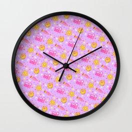 Usagi's Items Pattern / Sailor Moon  Wall Clock