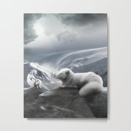 The Artic Foxes Metal Print
