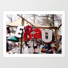 Berlin Letters Art Print
