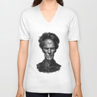 clint eastwood V-neck T-shirts featuring Clint Eastwood by Thomas Bryant