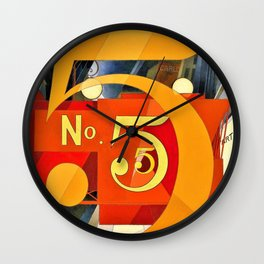 Charles Demuth - I Saw the Figure 5 in Gold - Digital Remastered Edition Wall Clock
