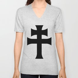 Cross of Lorraine Croix de Lorraine Unisex V-Neck