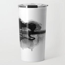 black and white electric guitar Travel Mug