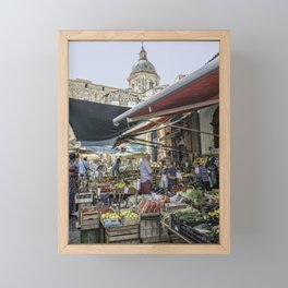 Going to the Market Framed Mini Art Print