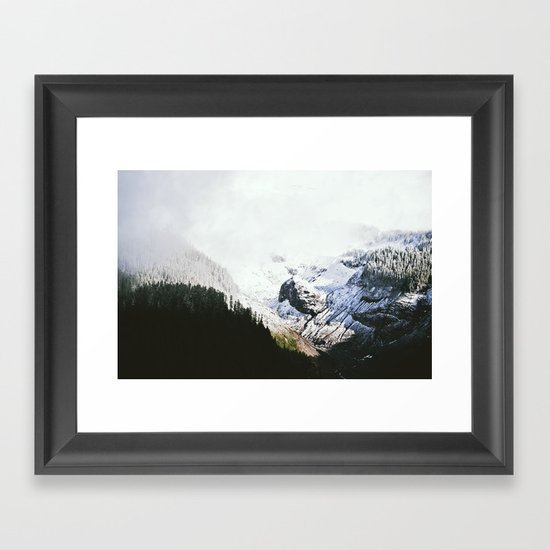Mountain Valley Contrast Framed Art Print