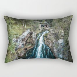 königssee waterfall alps bayern forrest drone aerial shot nature wanderlust Rectangular Pillow