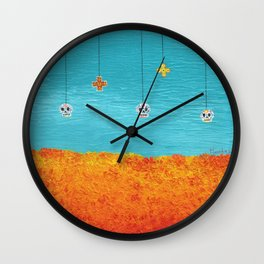 Day of the Dead Landscape Wall Clock