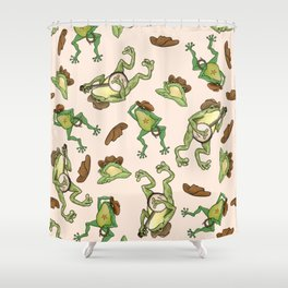Cowboy Frogs Shower Curtain