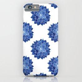 Indigo Succulent |  Watercolor Painting iPhone Case