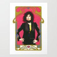 marc allante Art Prints featuring Marc Bolan by Saoirse Mc Dermott