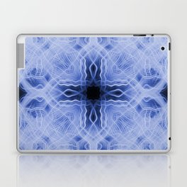Blue cross light trails pattern Laptop & iPad Skin
