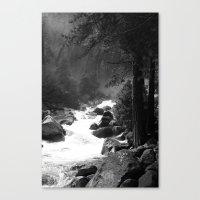 archan nair Canvas Prints featuring Whiteout Yosemite-2 by Deepti Munshaw