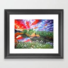 Rainbow Skies Framed Art Print